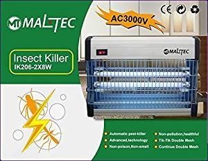 MALTEC Elektrischer Insektenvernichter Insektenlampe (16 Watt) Insektenschutz