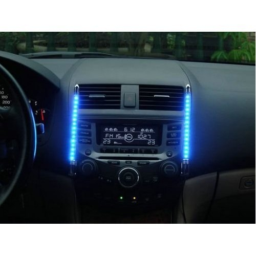 kfz auto innenraum tuning led beleuchtung mit musik sensor. Black Bedroom Furniture Sets. Home Design Ideas