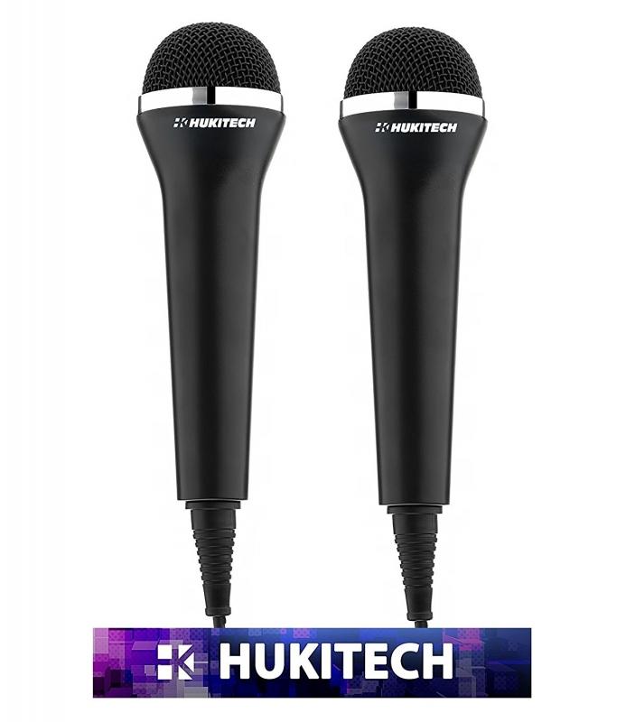 HUKITECH USB Mikrofon (2 Stück) für PS4 Xbox One Xbox 360 PS3 Wii U Wii PC