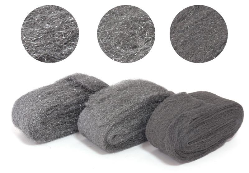 Stahlwolle Metall Polierset für Stahl Messing Kupfer Chrom Aluminium Holz