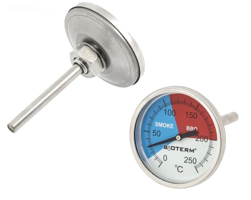 Räucherthermometer Thermometer für Grill BBQ Räucherofen (bis 250°C) analog