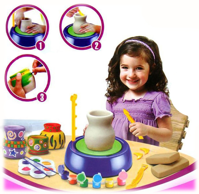 PREMIUM Set des kleinen Töpfers - kleine Töpfereiwerkstatt für Kinder