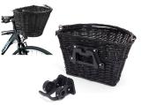 Praktischer Fahrradkorb Retro Weidenkorb (20 kg) abnehmbar - SCHWARZ