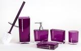 Edle mit Strass besetzte Bad Garnitur (5-teilig) Farbe Violett