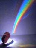 PREMIUM Regenbogen Projektor - LED Effekt Lampe Nachtlicht mit Timer Funktion