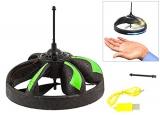 Induction UFO - RC Copter handgesteuert + Infrarot Sensor + LED + Akku (Grün)