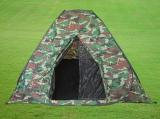 PREMIUM Hochwertiges 4-Personen-Zelt (selbstaufbauend) Khaki