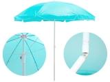 Knick Sonnenschirm 160 cm mit Knickgelenk (höhenverstellbar) für Balkon Garten