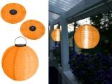 Designer LED Solarleuchte Mondlicht Solarkugel - Farbe ORANGE