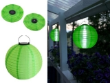 Designer LED Solarleuchte Mondlicht Solarkugel Ø 29 cm - Farbe GRÜN