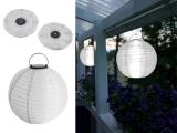 Designer LED Solarleuchte Mondlicht Solarkugel Ø 29 cm - Farbe WEIß