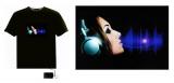 Sound-sensitives LED EL-Display mit Befestigung - für jedes T-Shirt
