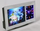 3D Aquariumleuchte mit Farb- und Lichteffekten und mit Uhr