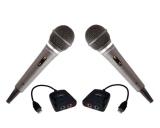 PREMIUM SET: 2x Mikrofone für Nintendo Wii + 2x USB-Adapter Singstar