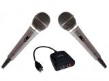 PERFORMANCE SET: 2x Mikrofone für PS2 / PS3 + 1x USB-Adapter Singstar