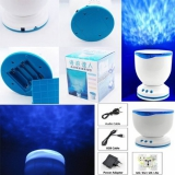 Ozean Waves Wellen Projektor - LED Lampe Nachtlicht Blau - Lautsprecher für MP3