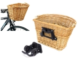 Praktischer Fahrradkorb Retro Weidenkorb (20 kg) abnehmbar - BRAUN